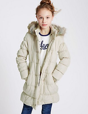 Lux Padded Coat with Stormwear™ (5-14 Years), CREAM, catlanding