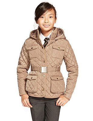 Thermal Quilted & Belted Coat with Triple Action Stormwear™, TAUPE, catlanding