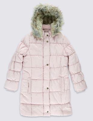 Утеплённое пальто Lux с меховым капюшоном и технологией Stormwear™ для девочки 5-14 лет