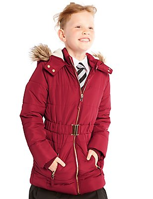 Hooded Longline Coat with Stormwear™ (3-14 Years), MULBERRY, catlanding