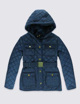 Стёганая куртка Stormwear™ с поясом для девочки 3-16 лет от Marks & Spencer