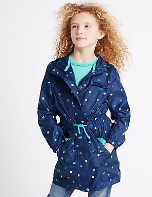 All Over Print Jacket with Stormwear™ (3-14 Years) , BLUE MIX, catlanding