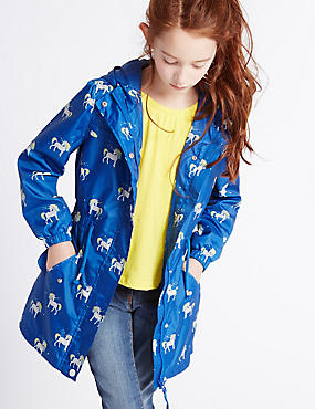 All Over Print Mac with Stormwear™ (3-14 Years), BLUE MIX, catlanding