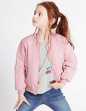 Bomber Jacket with Stormwear™ (3-14 Years), PINK, catlanding