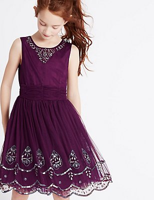 Beaded Dress (3-14 Years), MULBERRY, catlanding