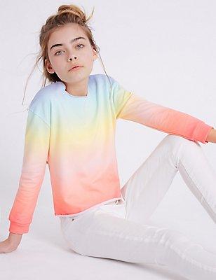 Rainbow Print Sweatshirt (3-14 Years), MULTI, catlanding