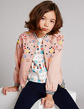 Bomber Jacket (3-14 Years), SOFT CORAL, catlanding