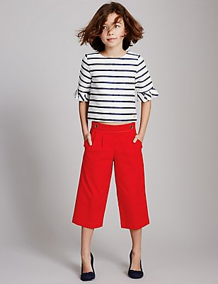 Culotte Trousers (3-14 Years), RED, catlanding