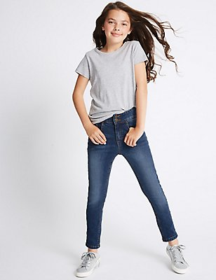 Cotton Jeans with Stretch (3-14 Years) , DENIM, catlanding