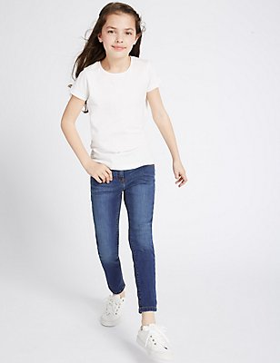 Cotton Rich with Stretch Skinny Fit Jeans (3-14 Years), DENIM, catlanding