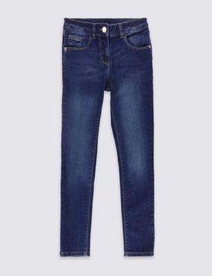 Хлопковые джинсы скинни с потёртостями для девочки 3-10 лет T749557E