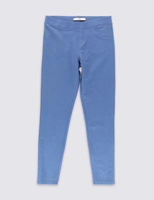 Светло-голубые джеггинсы стретч для девочки 5-14 лет T749560E