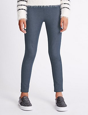 Denim Jeggings with StayNEW™  (3-14 Years), DARK DENIM, catlanding