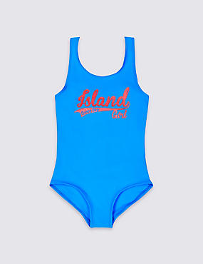 Island Swimsuit with Lycra® Xtra Life™ (3-14 Years), BLUE, catlanding