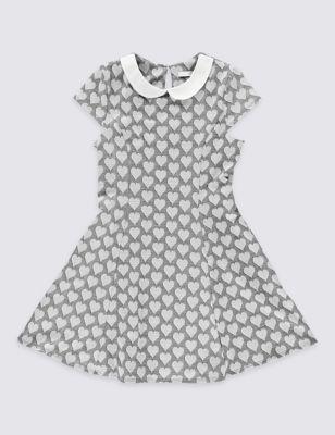 Платье понте с воротником