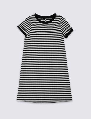 Платье понте в полоску для девочки 3-14 лет