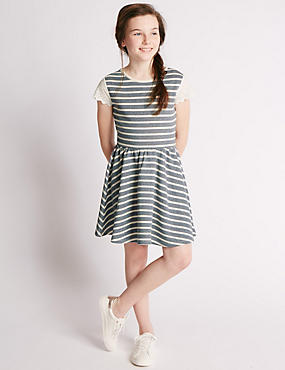 Cotton Rich Striped Dress (5-14 Years)