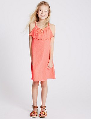 2 Pack Jersey Dress (3-14 Years), PEACH MIX, catlanding