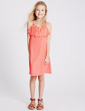 2 Pack Jersey Dress (3-14 Years), PEACH MIX, catlanding