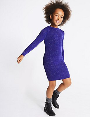 Knitted Dress (3-14 Years), MULTI, catlanding