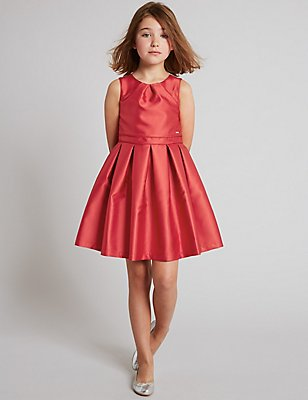 Sleeveless Prom Dress (3-14 Years), RED, catlanding