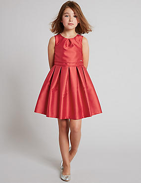 Sleeveless Prom Dress (3-14 Years), RED, catlanding