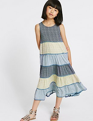 Sleeveless Dress (3-14 Years), MULTI, catlanding