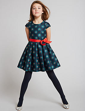 Printed Prom Dress (3-14 Years), DARK NAVY MIX, catlanding