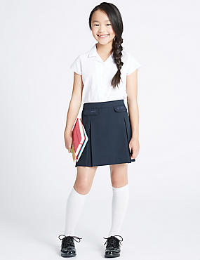 Junior Girls' Skirt, NAVY, catlanding