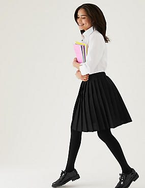 Girls' Easy Dressing Skirt, BLACK, catlanding