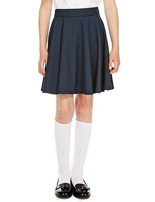 Girls' Skater Skirt with Triple Action Stormwear™, NAVY, catlanding