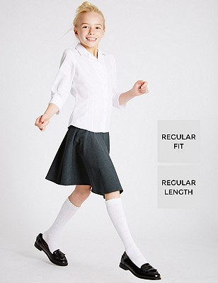 Girls' Skater Skirt with Triple Action Stormwear™, GREY, catlanding