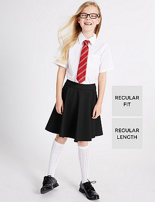 Girls' Skater Skirt with Triple Action Stormwear™, BLACK, catlanding