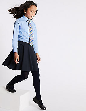 Flared Skater Skirt (2-16 Years), NAVY, catlanding