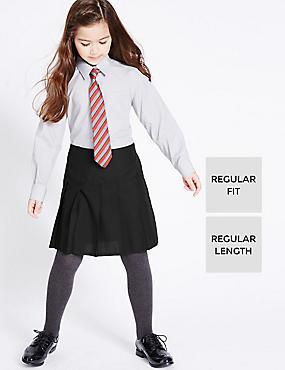 Pack de 2 faldas con pliegue permanente con Triple Action Stormwear™ para chicas, NEGRO, catlanding