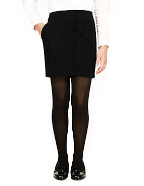 Senior Girls' Panelled Straight Skirt (Older Girls), BLACK, catlanding