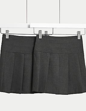 2er-Pack Röcke für Mädchen, GRAU, catlanding