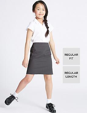 Girls' Pure Cotton Skin Kind™ Skirt, GREY, catlanding
