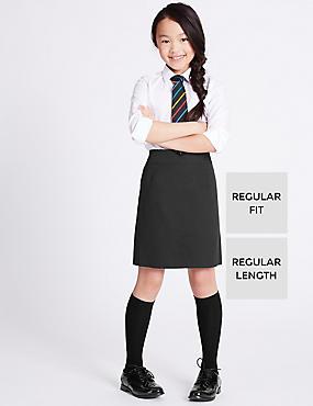 Girls' Pure Cotton Skin Kind™ Skirt, BLACK, catlanding