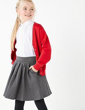 Jupe fille en maille de coton, GRIS, catlanding