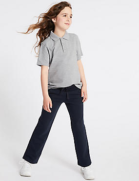 Girls' Cotton Rich Joggers, DARK NAVY, catlanding