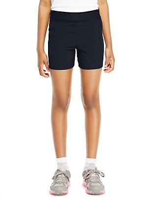 Girls' 2-in-1 Shorts with Active Sport™, NAVY, catlanding