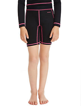 Girls' Base Layer Cycling Shorts, BLACK, catlanding