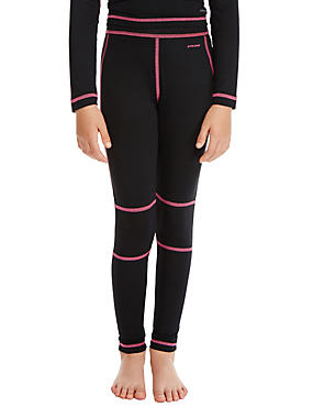Girls' Leggings with Active Sport™, BLACK, catlanding