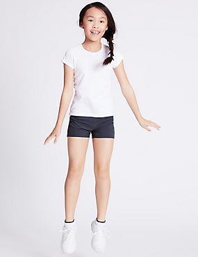 Girls' Performance Shorts, DARK NAVY, catlanding