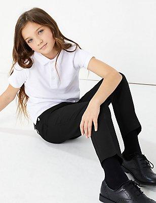 2 Pack Girls' Trousers, BLACK, catlanding