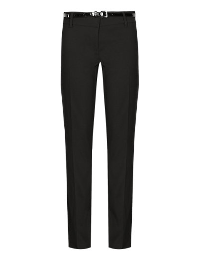 Girls' Adjustable Waist Skinny Fit Belted Trousers with Stormwear+™ Clothing