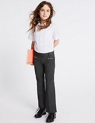 Junior Girls' Trousers, GREY, catlanding