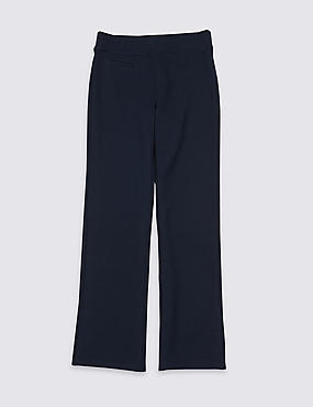 Girls' Cotton Rich Regular Leg Trousers