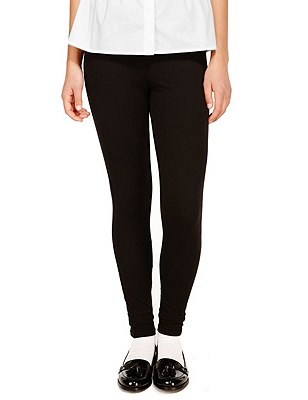 Senior Girls' Skinny Fit Jeggings, BLACK, catlanding